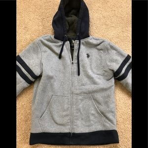 US Polo zip up sweat shirt